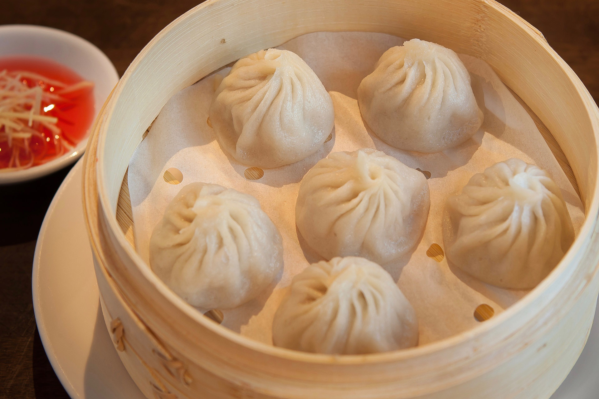 Soup Filled Dumplings (Pork) [6] at Lee Chen Asian Bistro