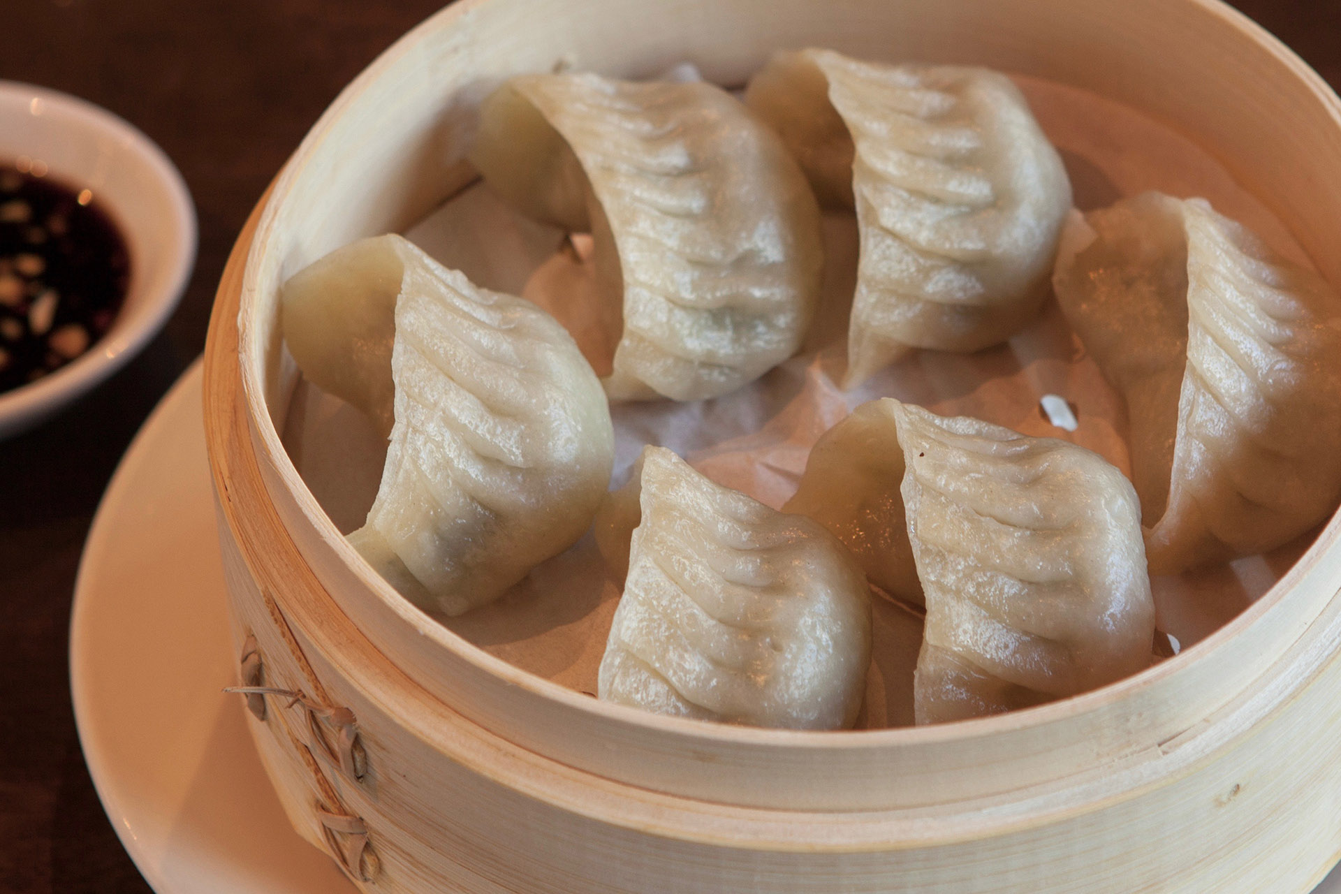 Steamed Vegetable Dumplings [6] at Lee Chen Asian Bistro