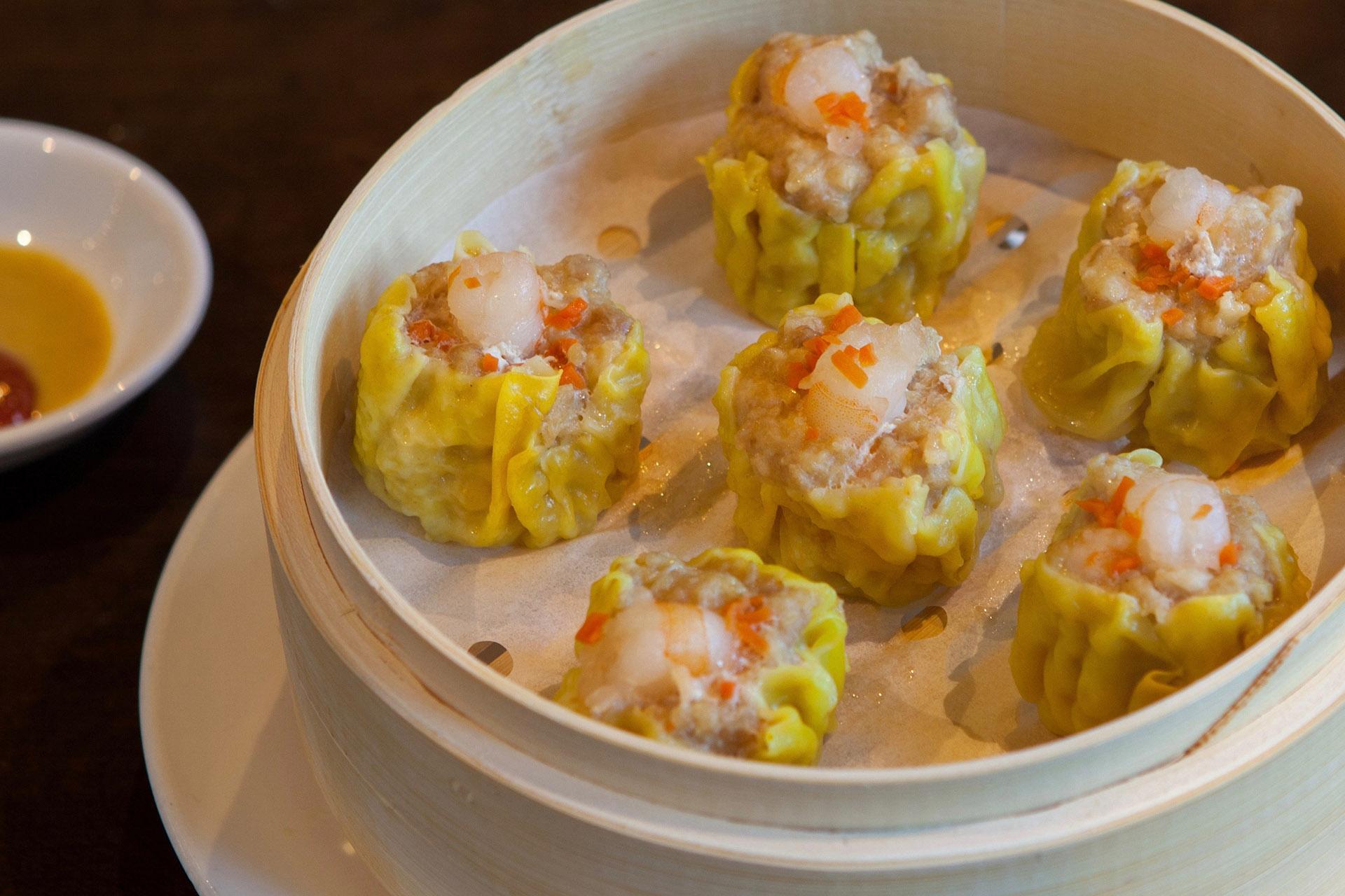 Shrimp & Chicken Shao Mai [6] at Lee Chen Asian Bistro