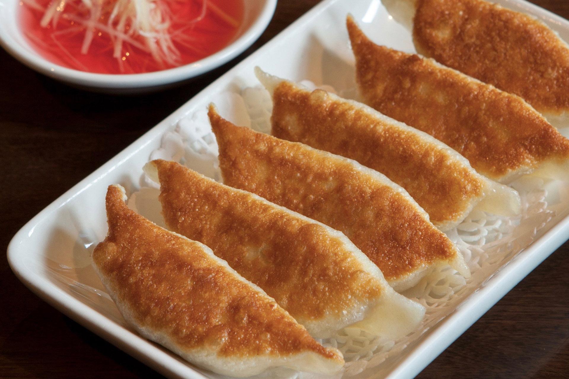 Pan Fried Pork Dumplings [6] at Lee Chen Asian Bistro