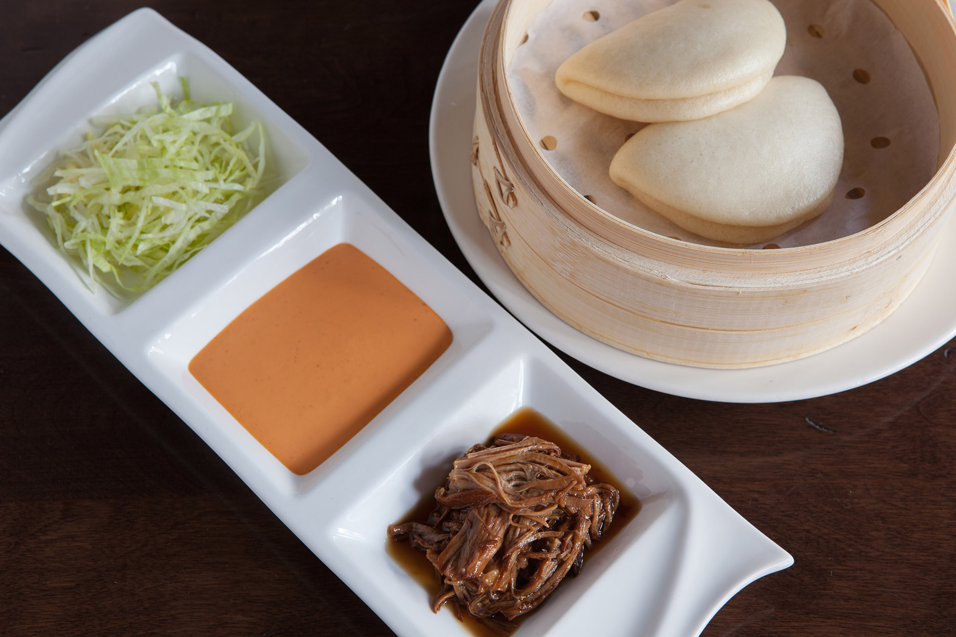 Pulled Pork Bao [2] at Lee Chen Asian Bistro