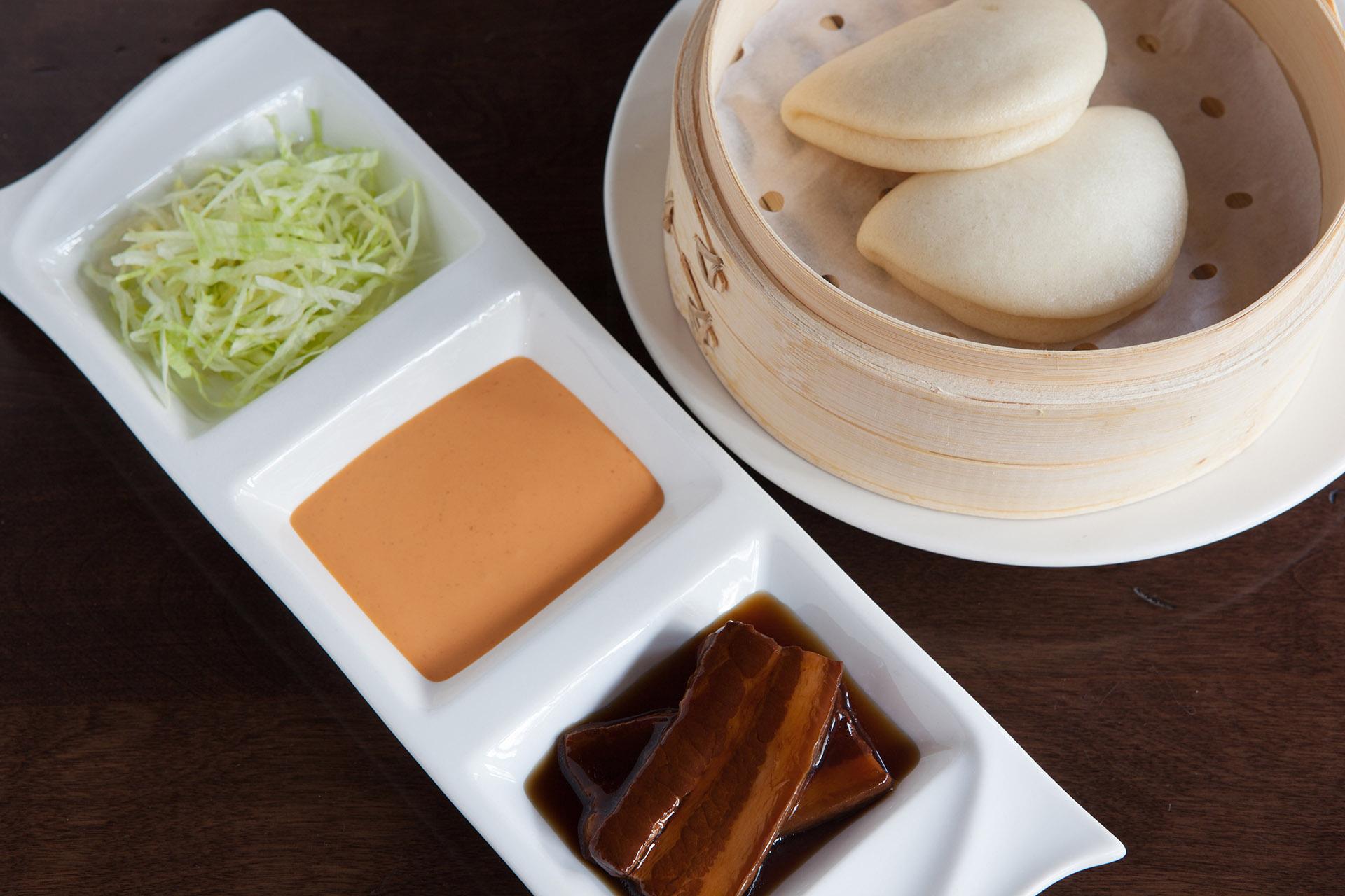 Pork Belly Bao [2] at Lee Chen Asian Bistro