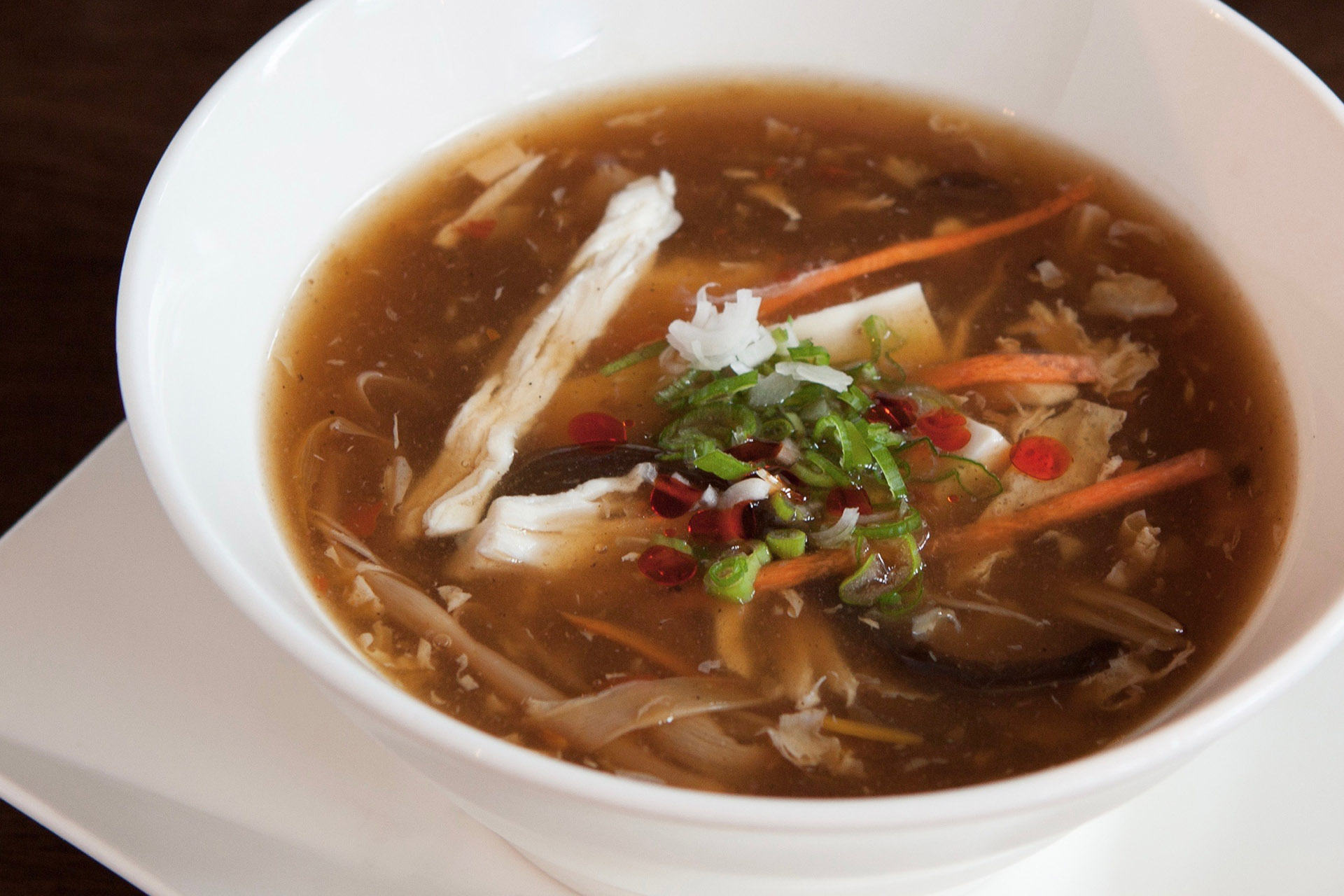 Hot & Sour Soup (chicken) at Lee Chen Asian Bistro