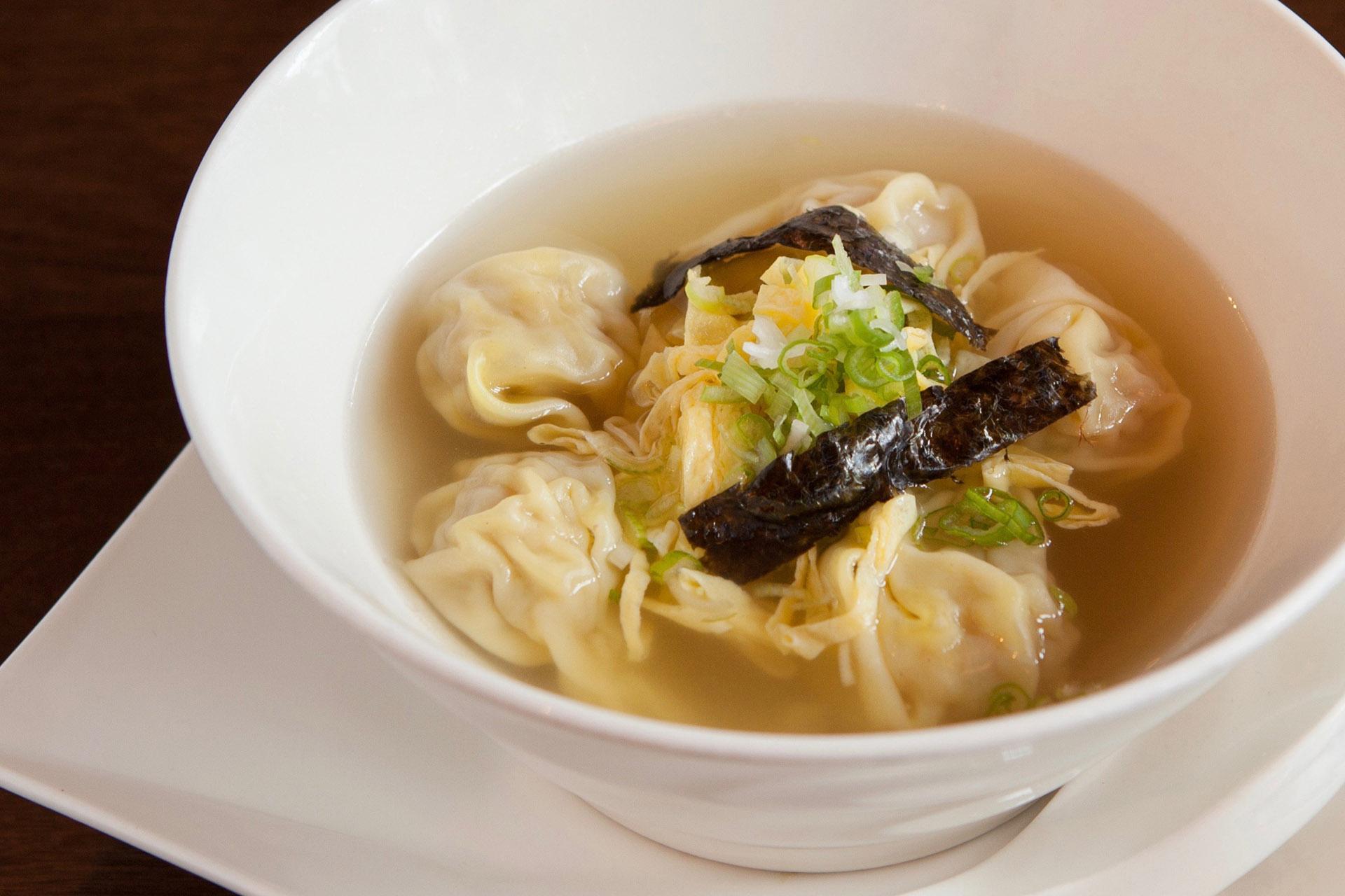 Wonton Soup (pork) at Lee Chen Asian Bistro