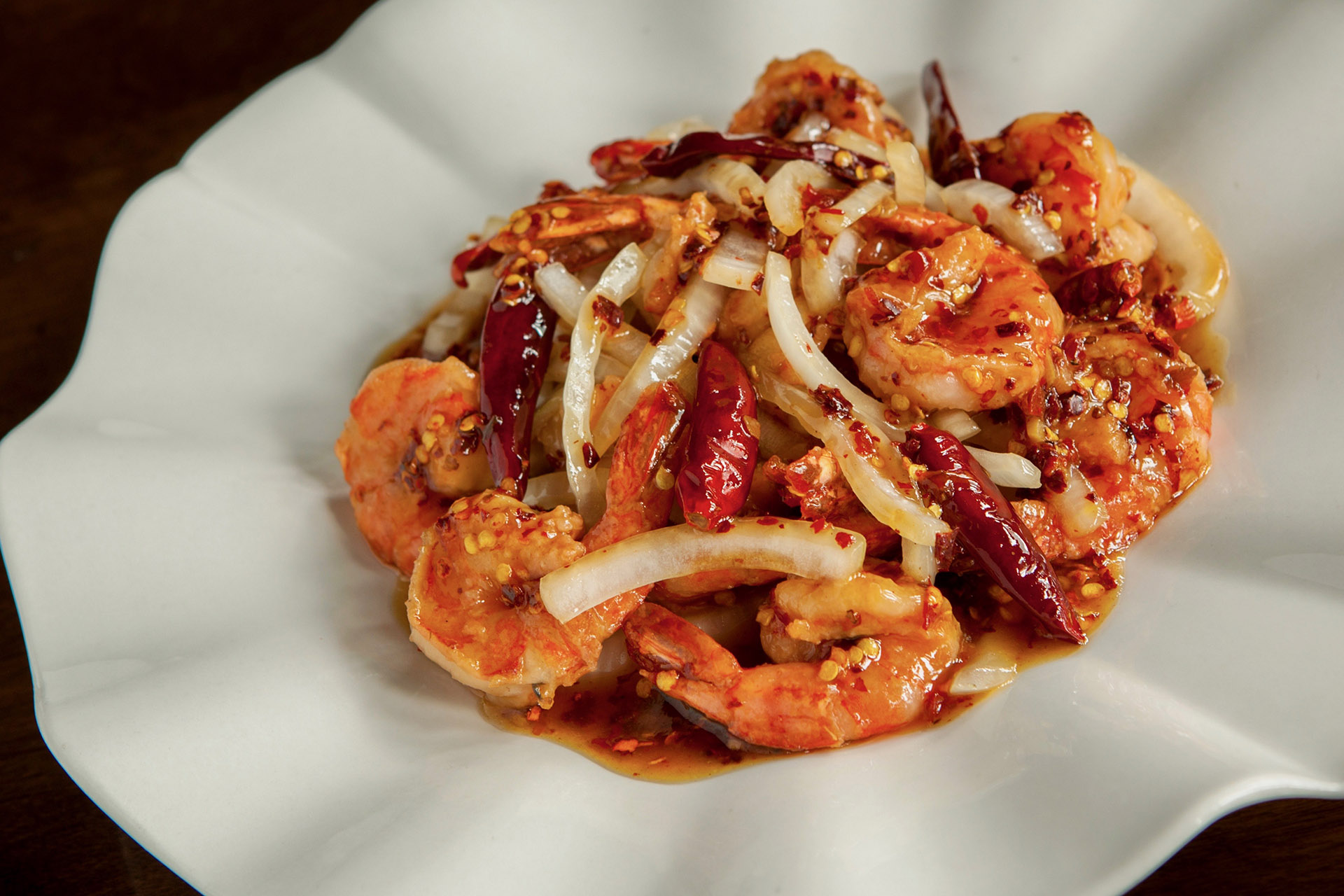 General Tso Shrimps at Lee Chen Asian Bistro