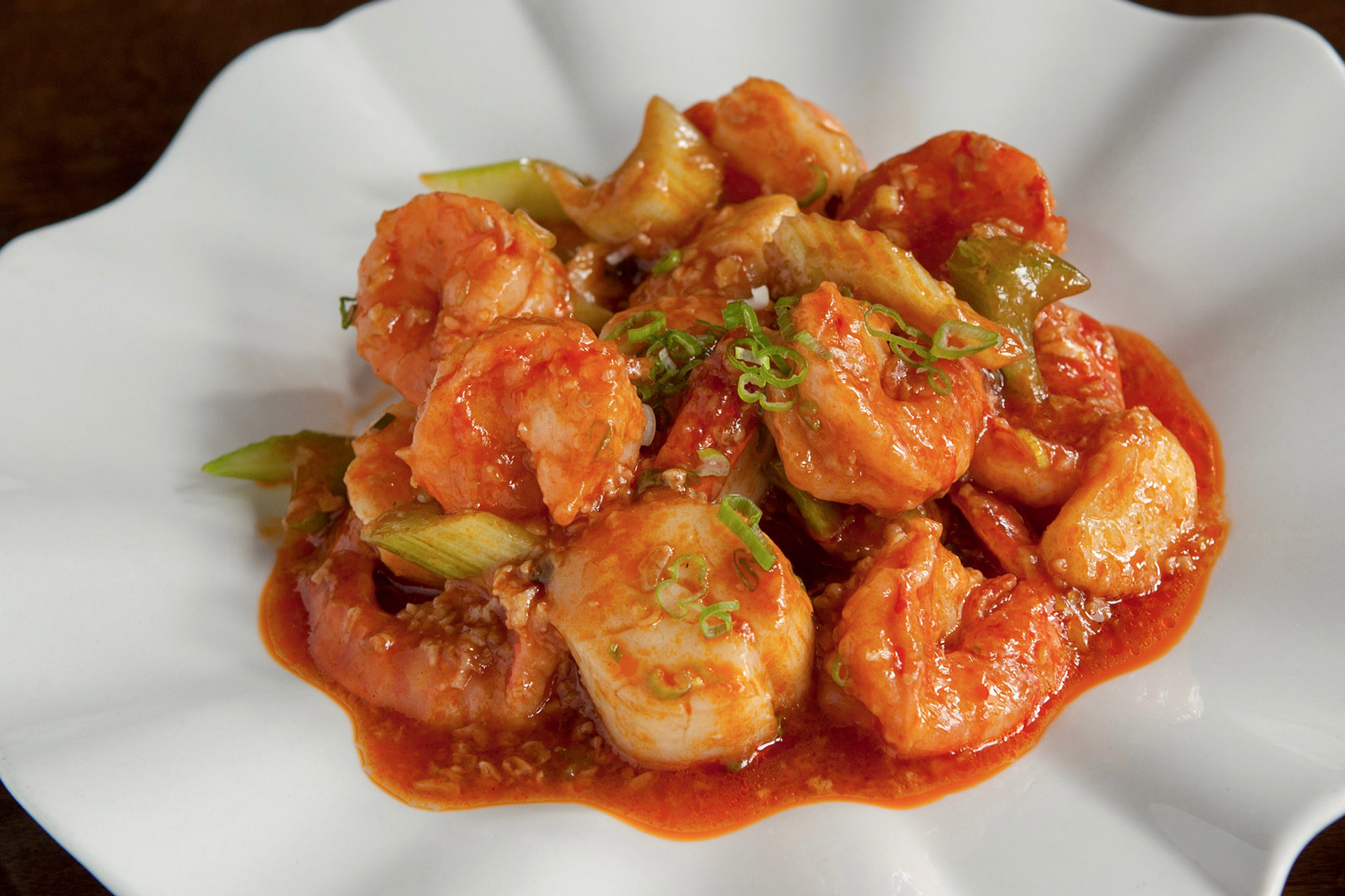 Szechuan Scallops & Shrimps at Lee Chen Asian Bistro