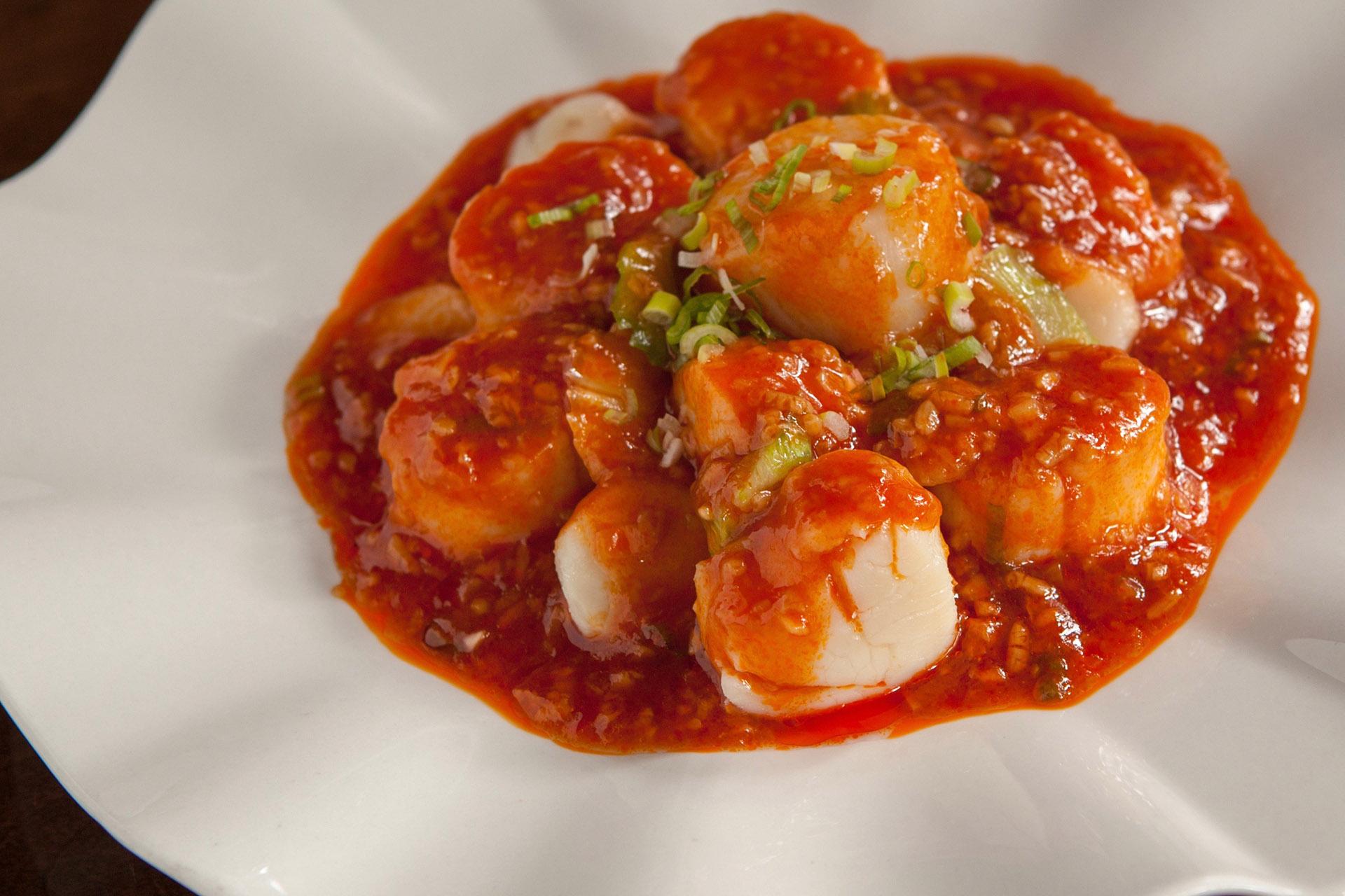 Szechuan Scallops at Lee Chen Asian Bistro