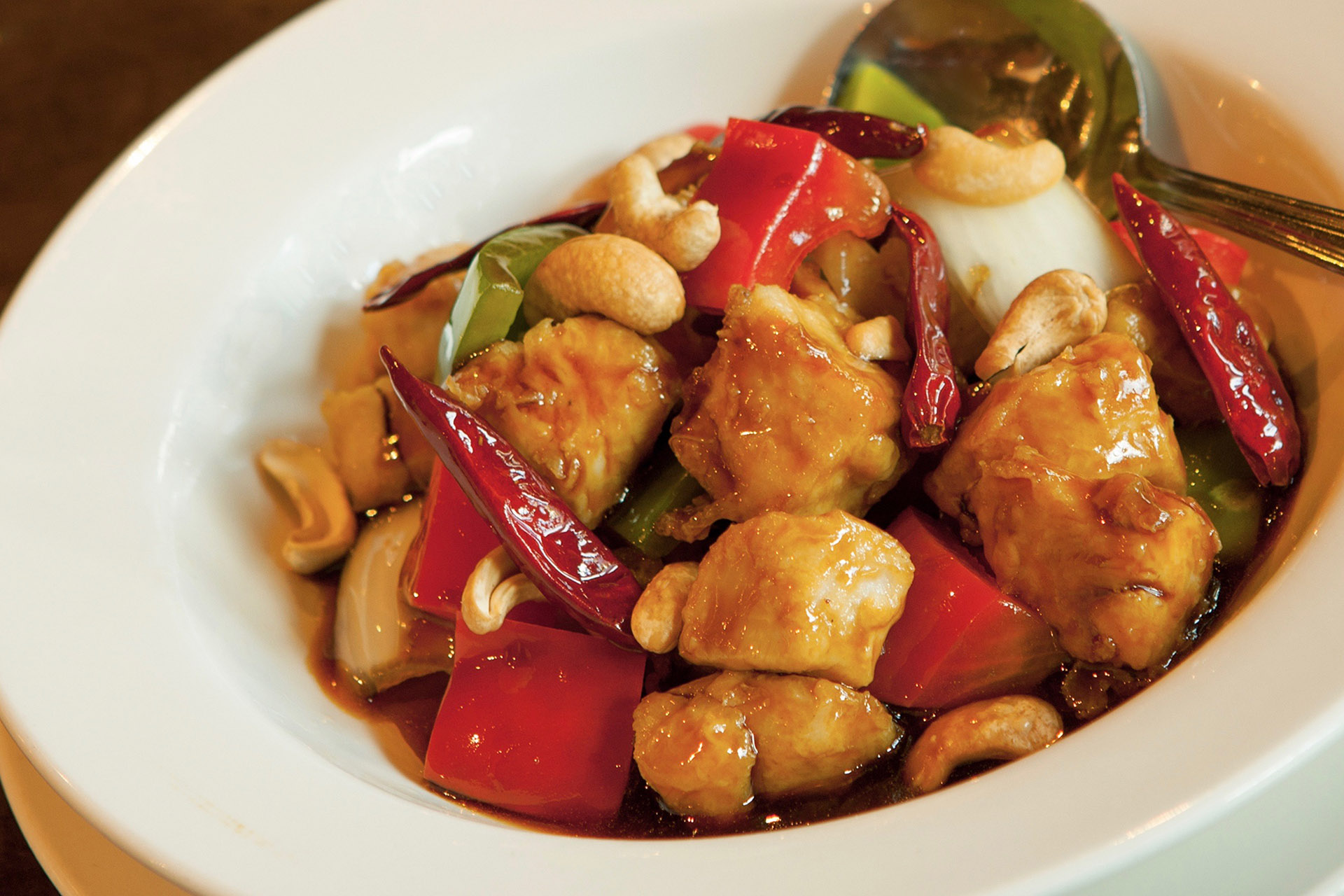 Kung Pao Chicken at Lee Chen Asian Bistro