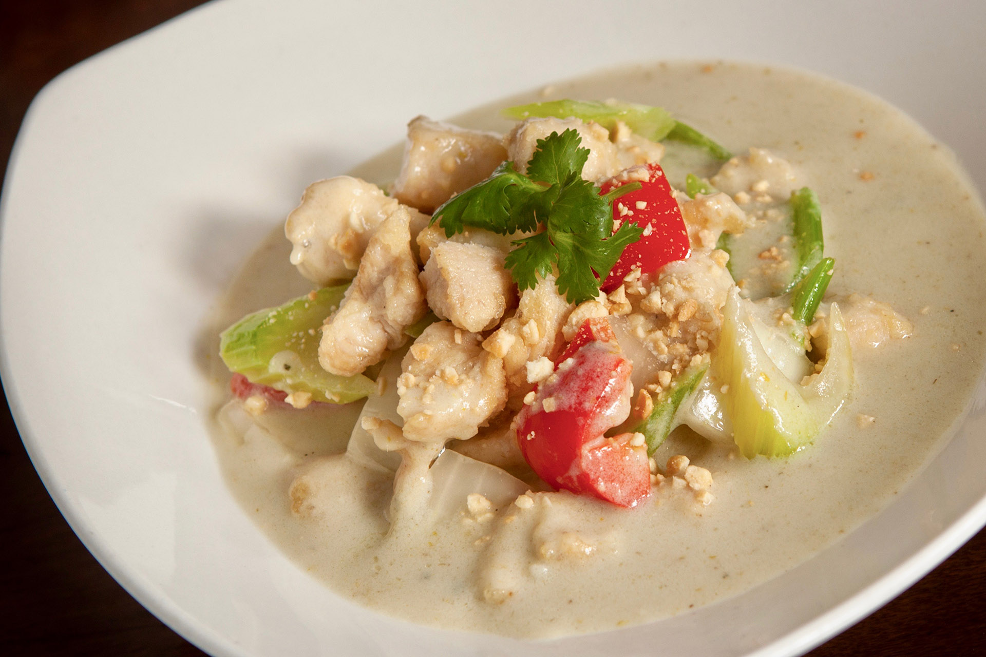 Thai Green Curry Chicken at Lee Chen Asian Bistro