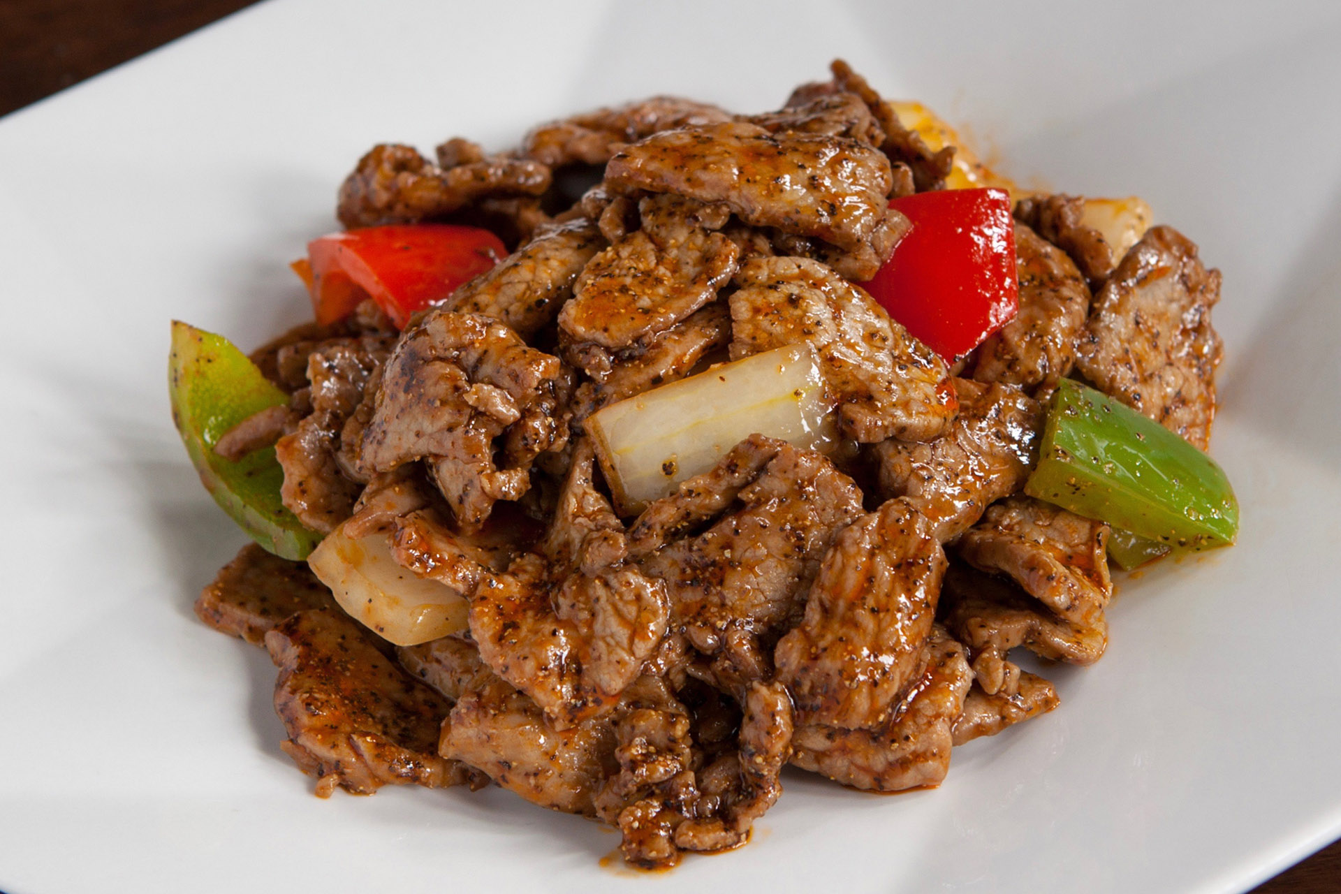 Black Pepper Beef at Lee Chen Asian Bistro
