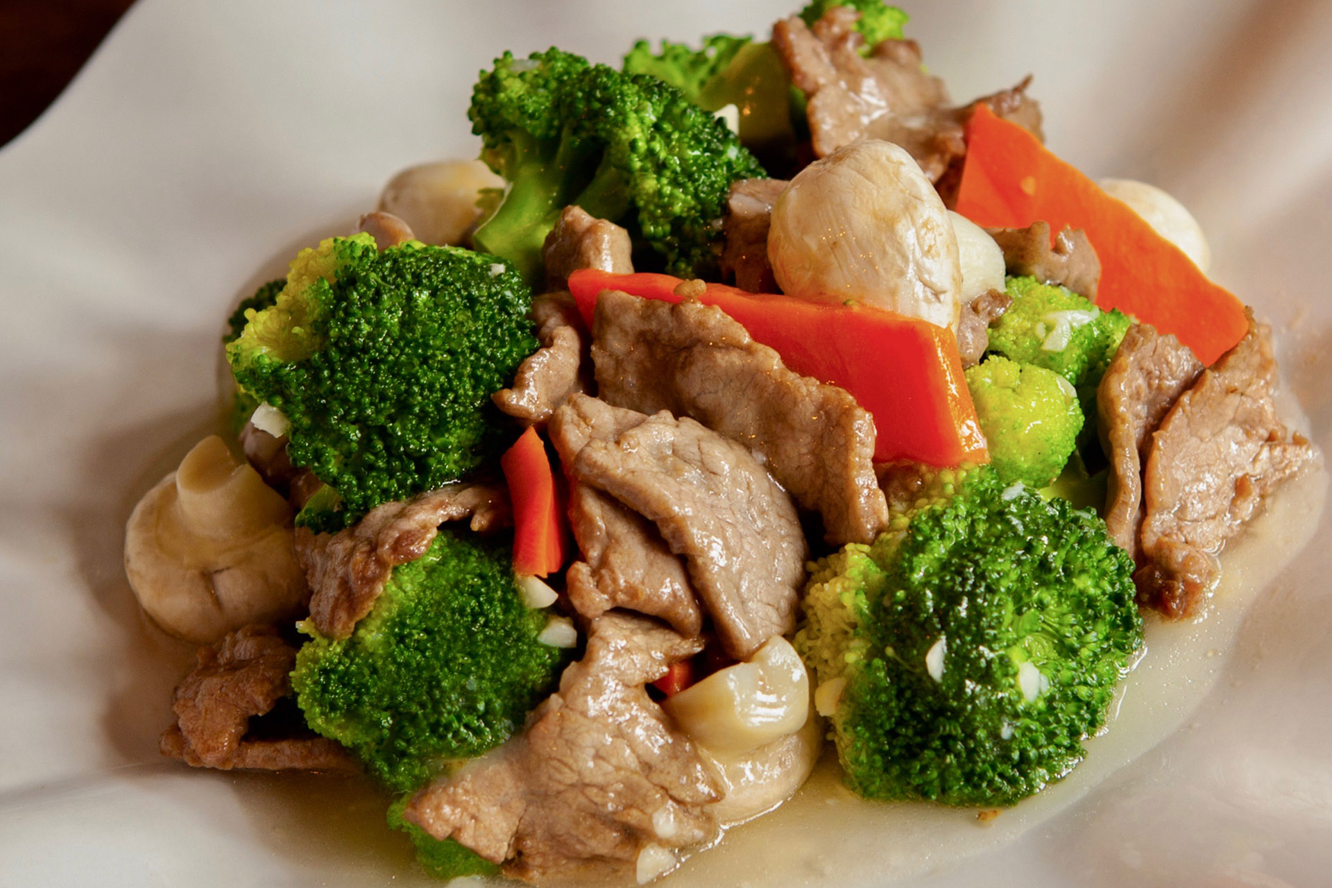 Beef & Broccoli at Lee Chen Asian Bistro