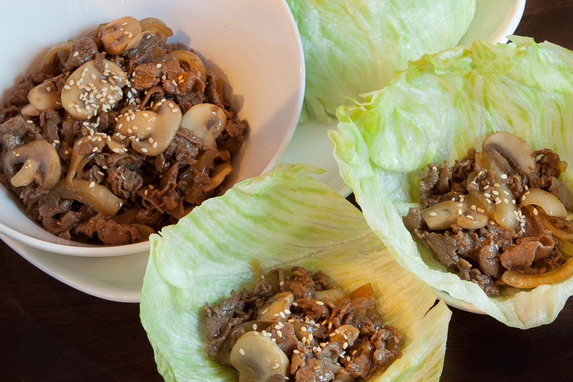 Korean Beef Lettuce Wrap at Lee Chen Asian Bistro